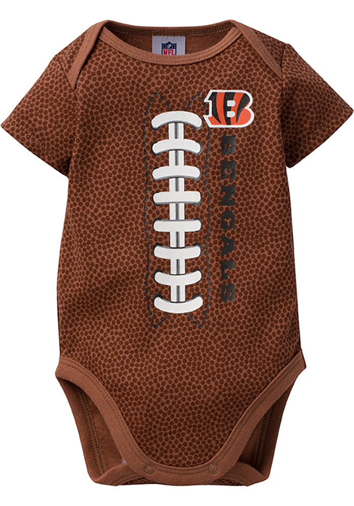 Cincinnati Bengals Baby Black Football One Piece