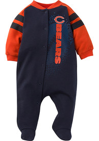 Chicago Bears Baby Sleep N Play One Piece Pajamas - Navy Blue