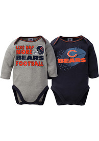 Chicago Bears Baby Navy Blue More Football One Piece