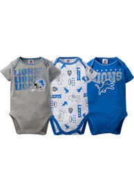 Detroit Lions Baby Blue Trifecta One Piece