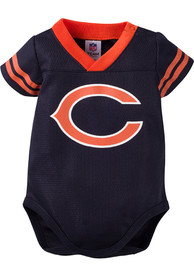 Chicago Bears Baby Navy Blue Dazzle Player One Piece
