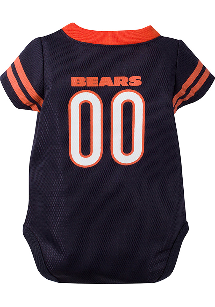 Chicago Bears Baby Navy Blue Dazzle Player Short Sleeve One Piece - Image 2