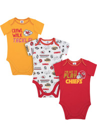 Kansas City Chiefs Baby Ready to Play One Piece - Red