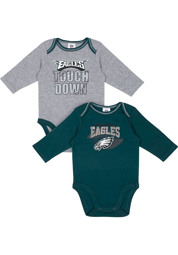 Philadelphia Eagles Baby Teal Touchdown One Piece - Image 1