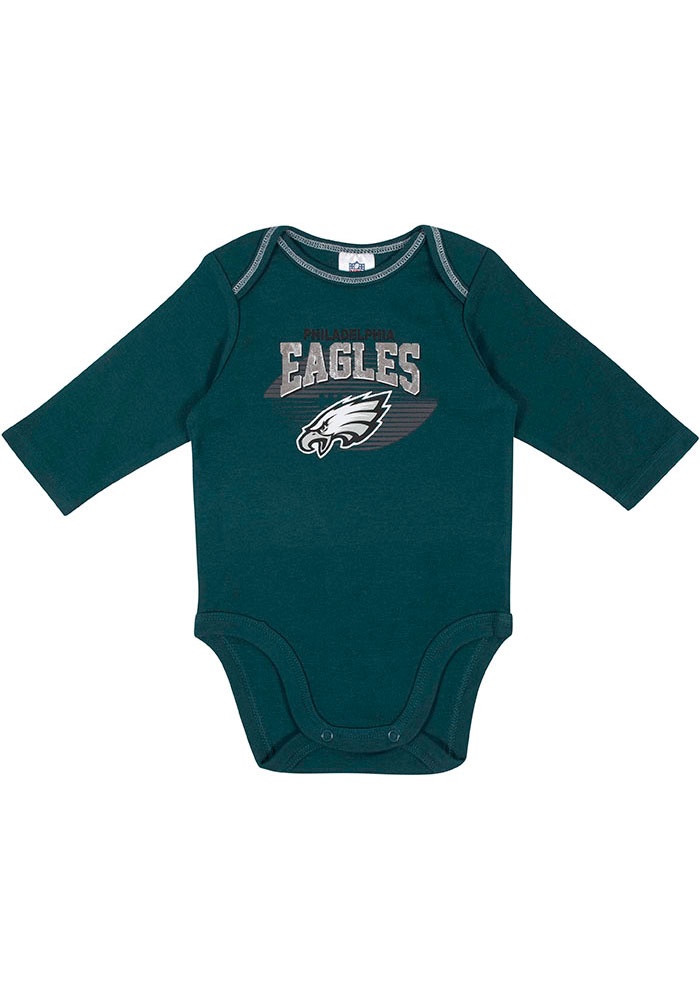 Philadelphia Eagles Baby Teal Touchdown One Piece - Image 2