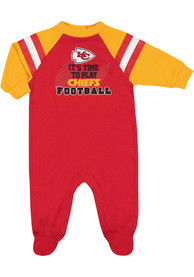 Kansas City Chiefs Baby All About Football One Piece Pajamas - Red