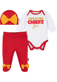 Kansas City Chiefs Infant Girls Awesome Girl Top and Bottom - Red