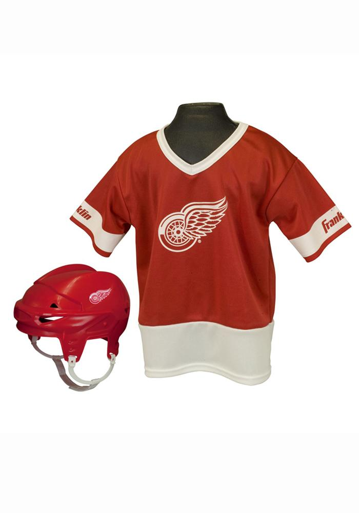 Detroit Red Wings Hockey Helmet/Jersey Set - Image 1