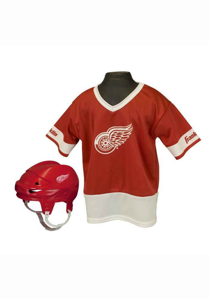 Detroit Red Wings Hockey Helmet/Jersey Set - Image 2