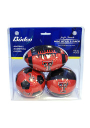 Texas Tech Red Raiders 4 Inch 3 Pack Soft Touch
