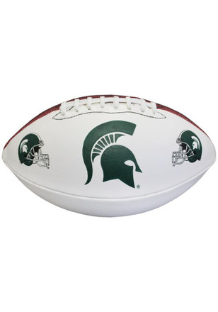 Michigan State Spartans Official Team Logo Autographed Football