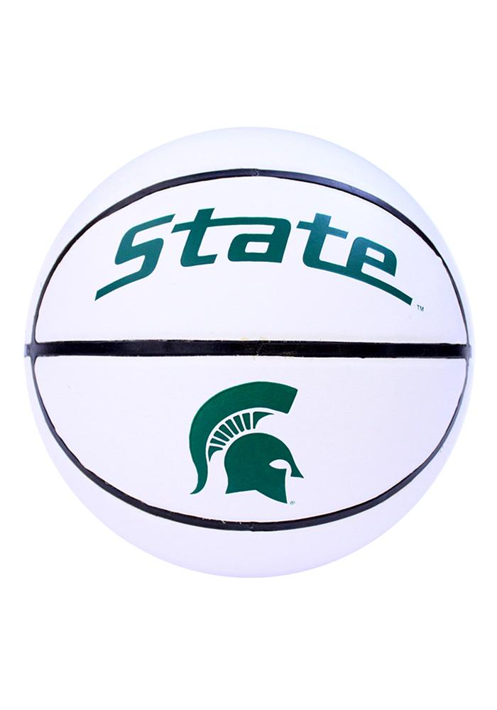 Michigan State Spartans Official Team Logo Autograph Basketball - Image 1
