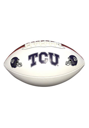 TCU Horned Frogs Official Team Logo Autographed Football