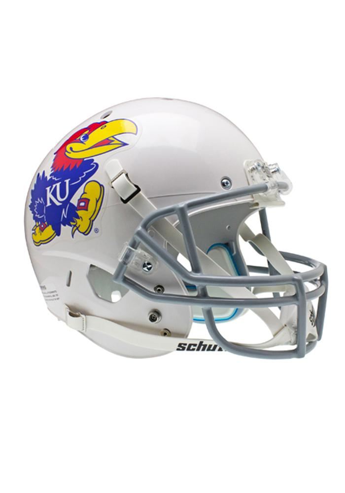 Kansas Jayhawks White Replica Full Size Football Helmet - Image 1
