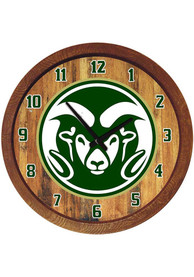 Colorado State Rams 20 Inch Barrel Wall Clock