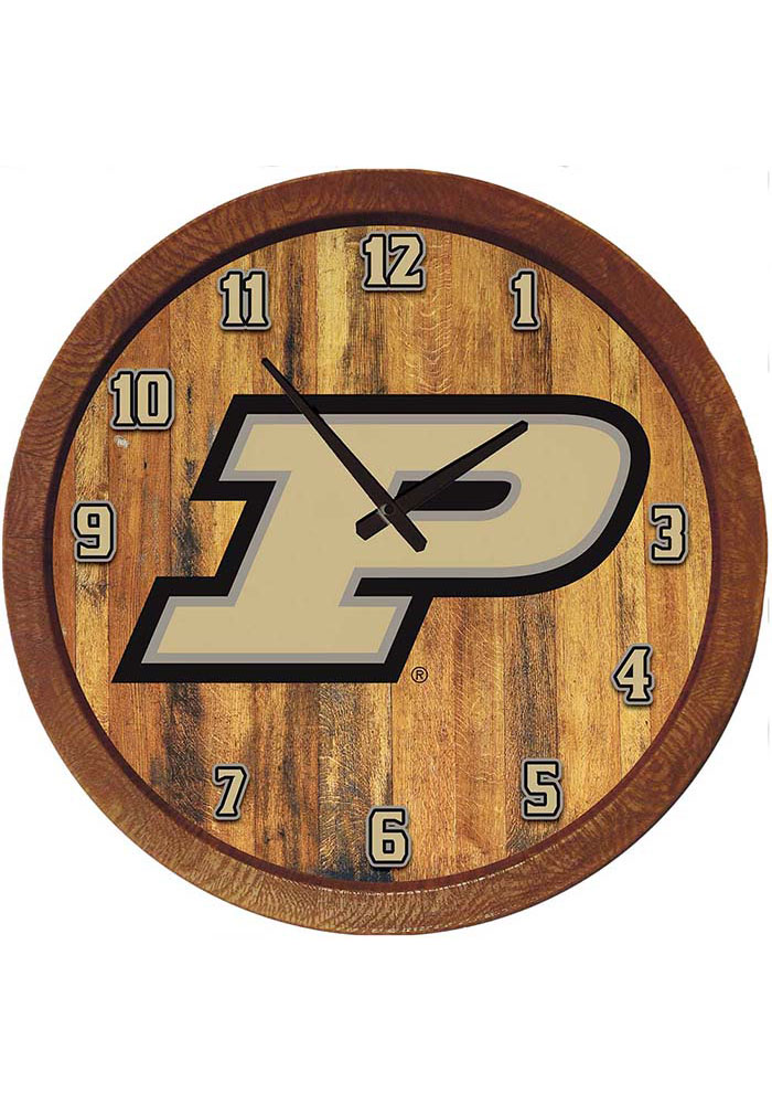 Purdue Boilermakers 20 Inch Barrel Wall Clock - Image 1