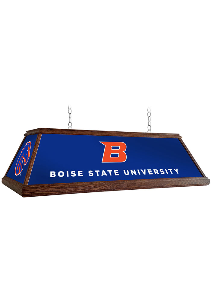Boise State Broncos 49 Inch Deluxe Wood Blue Billiard Lamp - Image 1