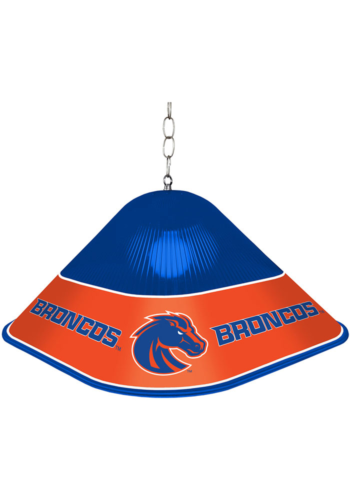 Boise State Broncos Game Table Square Blue Billiard Lamp - Image 1