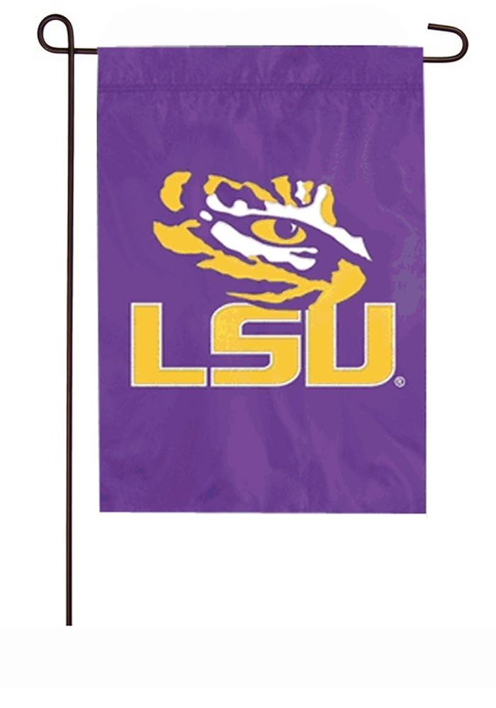 LSU Tigers 12.5x18 2-Sided Applique Purple Garden Flag - Image 1