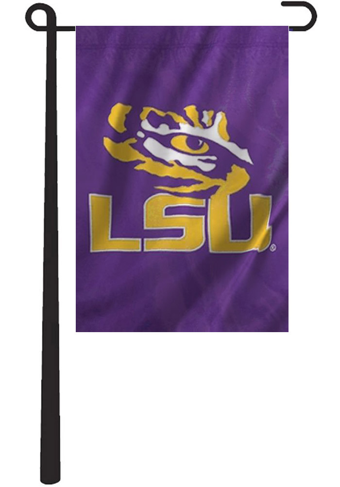 LSU Tigers 12.5x18 2-Sided Applique Purple Garden Flag - Image 2