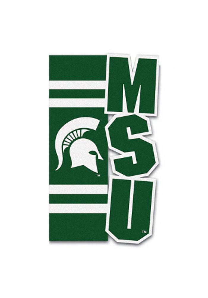 Michigan State Spartans 12.5x18 Green Garden Flag - Image 1