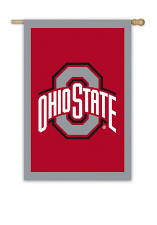 Ohio State Buckeyes 28x44 Applique Sleeve Banner