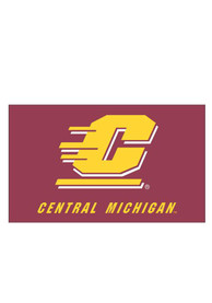 Central Michigan Chippewas 3x5 Grommet Maroon Silk Screen Grommet Flag