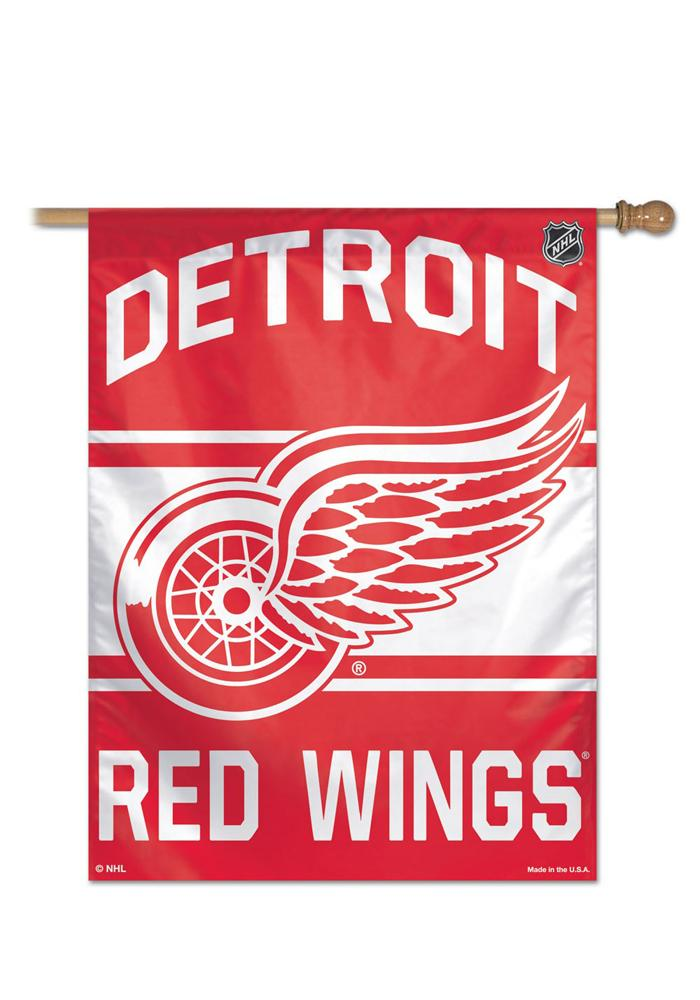 Detroit Red Wings 28x40 Silk Screen Sleeve Banner - Image 1