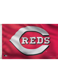Cincinnati Reds 3x5 Deluxe Grommet Red Silk Screen Grommet Flag