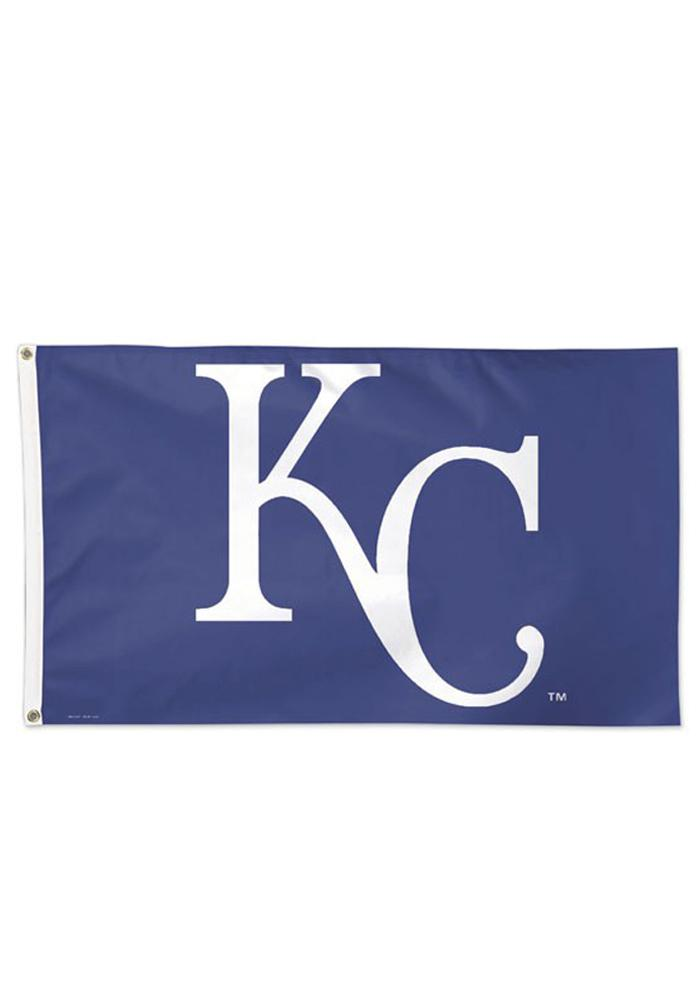 Kansas City Royals 3x5 Deluxe Grommet Blue Silk Screen Grommet Flag - Image 1