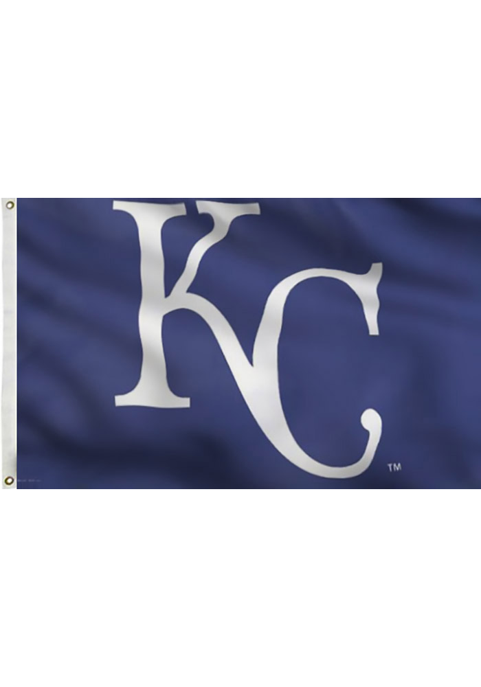 Kansas City Royals 3x5 Deluxe Grommet Blue Silk Screen Grommet Flag - Image 2