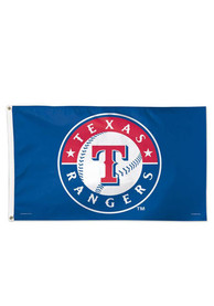 Texas Rangers 3x5 Deluxe Grommet Blue Silk Screen Grommet Flag