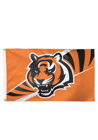 Cincinnati Bengals 3x5 Deluxe Grommet Orange Silk Screen Grommet Flag