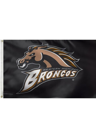 Western Michigan Broncos 3x5 Grommet Brown Silk Screen Grommet