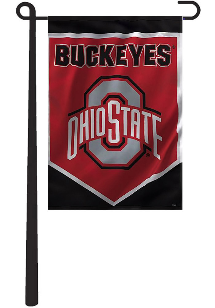 Ohio State Buckeyes 12x16 Red Garden Flag - Image 1