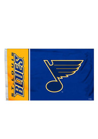 St Louis Blues 3x5 Logo Grommet Blue Silk Screen Grommet Flag