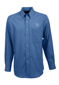 Antigua Kansas City Royals Blue Associate Dress Shirt