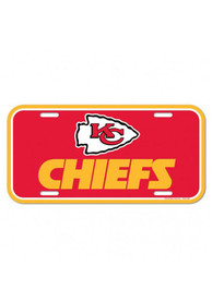 Kansas City Chiefs Plastic Car Accessory License Plate