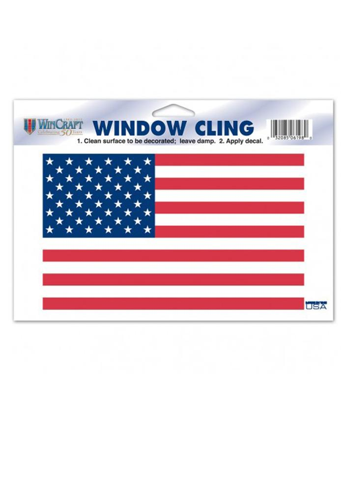 American Flag 4.5X8.5 Static Cling - Image 1