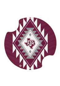 Texas A&M Aggies Aztec 2 Pack Car Coaster - Maroon