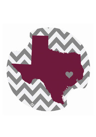 Texas A&M Aggies Chevron 2 Pack Car Coaster - Maroon