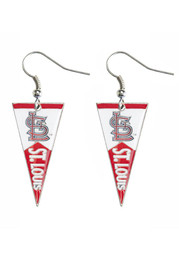 St Louis Cardinals Womens Pennant Earrings - White