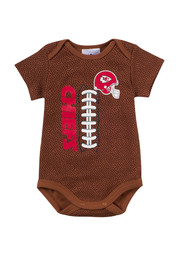 KC Chiefs Baby brown Infant Football Creeper