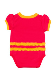 KC Chiefs Baby red Infant Girls Dazzle Creeper