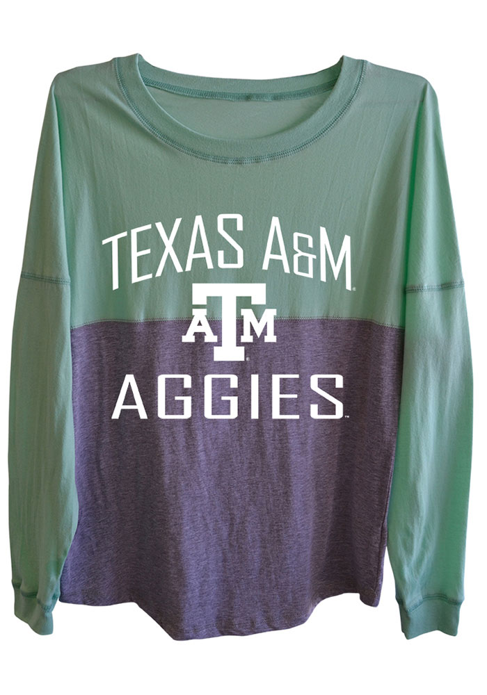 Texas A&M Aggies Womens Green Sideline Jersey LS Tee - Image 1