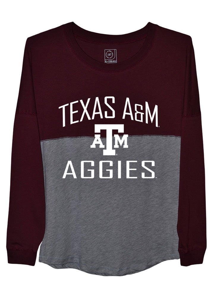 Texas A&M Aggies Juniors Sideline Jersey Maroon LS Tee