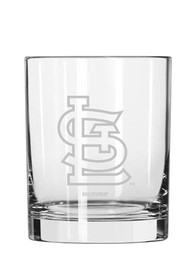 St Louis Cardinals Frosted Logo Rock Glass