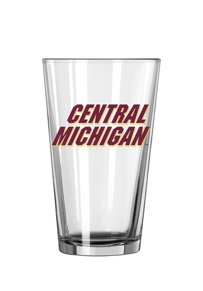 Central Michigan Chippewas Wordmark Pint Glass - Image 2
