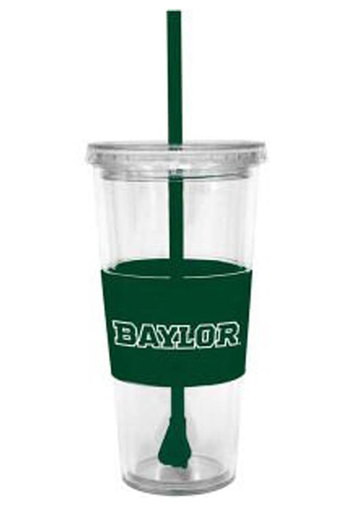 Baylor Bears 22oz Clear Straw Tumbler - Image 1