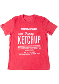 Whataburger Heather Red Fancy Ketchup Short Sleeve T-Shirt